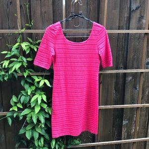 NWT Bebe pink eyelet mini dress